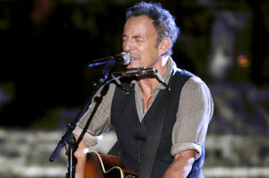 Musician Bruce Springsteen performs during The Concert for Valor on the National Mall on Veterans' Day in Washington